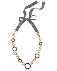 """Trina Turk - """"destination Groove Ribbon Tie Back Resin Necklace - Lyst"""