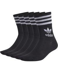 adidas Mid Cut CRW 5PP Socks - Negro