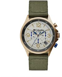 Columbia Canyon Ridge Stainless Steel Quartz Watch With Nylon Strap - Green