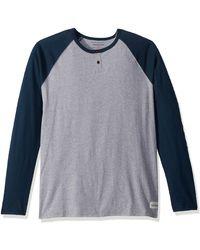 Quiksilver Henley Long Sleeve Knit - Blue