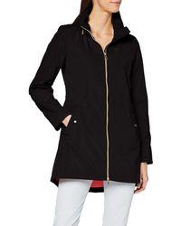 Geox W ANNYA Long Coat Impermeable - Negro