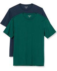 Amazon Essentials - Confezione da 2 Magliette A Girocollo Aderenti A iche Corte Fashion-t-Shirts - Lyst
