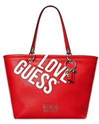 Guess Michy Tote Bag, 16x29x42 cm - Rot