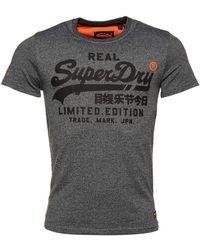Superdry - T-Shirt à Logo Vintage Fero Noir Poudré L - Lyst