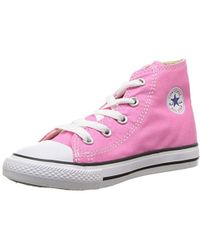 Converse - CTAS-Hi-Pink-Youth, Baskets Hautes Mixte Enfant - Lyst