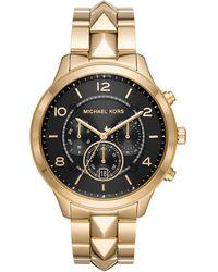 Michael Kors Uhren Rund Analog Quarz Edelstahl 32001285 - Mettallic