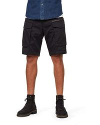 G-Star RAW Rovic Zip Relaxed 1/2-Length Shorts - Schwarz