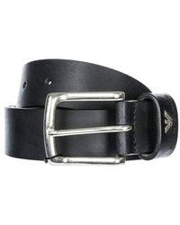 Emporio Armani Leather Black Belt 105 - Schwarz