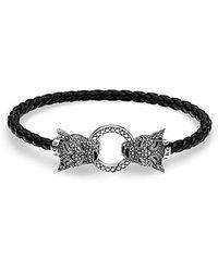 Thomas Sabo Femme Argent Bracelet en corde A1932-682-11-L17 - Noir