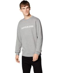 Calvin Klein Core Institutional Logo Sweatshirt Felpa - Grigio