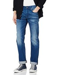 G-Star RAW 3301 Straight Fit Jeans para Hombre - Azul