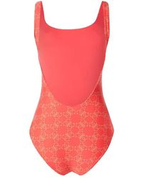 Guess One Piece Swimsuit Woman E02j21 Mc03i G5b5 - Red - L