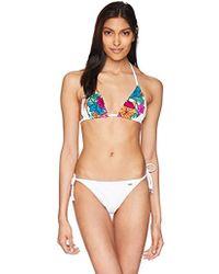 Emporio Armani - Ea7 Sea World Graphics Triangle Bikini Top And Bottom Set - Lyst
