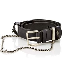G-Star RAW Sash Chain Belt Cintura - Nero