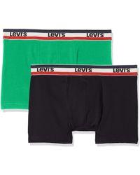 Levi's Levis 200sf Sprtswr Logo Color Boxer Brief 2p - Verde