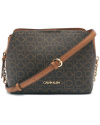 Calvin Klein Hailey Signature Triple Compartment Chain Crossbody - Multicolor