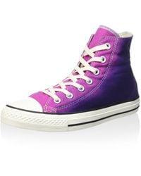 Converse Hightop Sneaker All Star Hi Sunset Wash lila EU 39.5