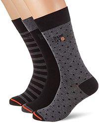outlet store 96874 8205b City Sock Triple Pack Calf - Black