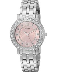 Guess Stainless Steel Silicone Casual Watch, Color: Red (model: U0911l9)