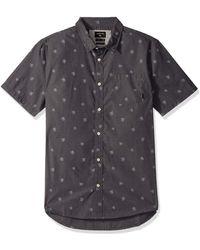 Quiksilver Ss Seajam Palm Woven Top Button Down Shirt - Multicolour
