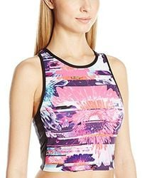 Betsey Johnson - Racerfront Printed Colorblock Bra - Lyst
