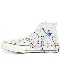 Converse Chuck 70 Expressionist Icon Sneakers - Blanc