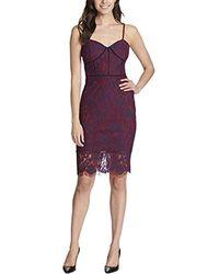 Guess Sleeveless Bodycon Dress - Purple