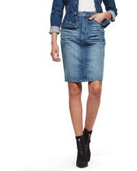 G-Star RAW 3301 Pencil Skirt Falda - Azul