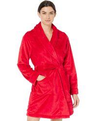 Amazon Essentials Mid-Length Plush Robe bathrobes - Rojo