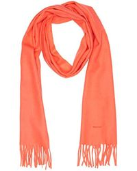 GANT Solid Lambswool Woven Scarf Gloves - Orange