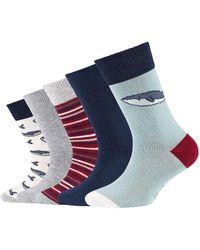 S.oliver Socken 5er-Pack Originals mit Bio-Baumwolle Tiere mit tollen Motiven silver blue - Blau