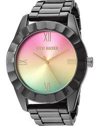 Steve Madden Fashion Watch Smw235m1 - Multicolour