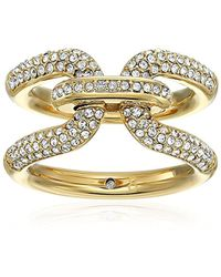 Michael Kors - S Iconic Link Pave Ring - Lyst