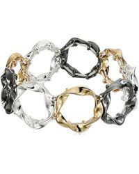 Nine West - Tri-tone Stretch Bracelet - Lyst