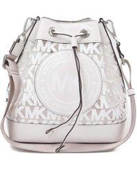 Michael Kors Fulton Sport Medium Bucket Messenger Optic White - Bianco