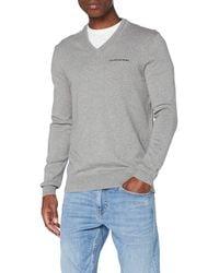 Calvin Klein Essential V Neck Sweater Maglione - Grigio