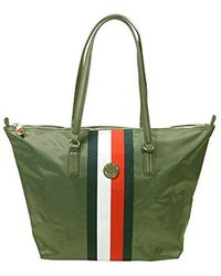 Tommy Hilfiger Poppy Tote Corp Cross-body Bag - Green