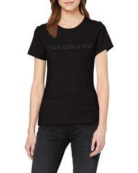 Calvin Klein Institutional Logo Slim Fit Tee T-Shirt - Nero