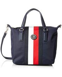 Tommy Hilfiger Poppy Tote Vertical Stripe Women's Handbags