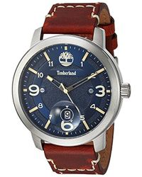 Timberland Tbl15017js03 Pembroke Analog Display Analog Quartz Brown Watch - Multicolor