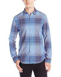 Calvin Klein - Jeans Ombre Plaid Shirt - Lyst