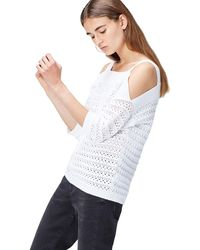 FIND Top In Crochet Knit With Open Shoulder - White