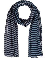 Tommy Hilfiger Seasonal Stripes Scarf Bufanda - Azul