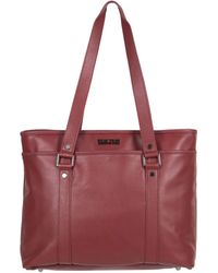 """Kenneth Cole Reaction Downtown Darling Leather Single Compartment 16"""" Laptop Tote - Red"""