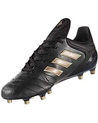 adidas Leather Copa 19.1 Firm Football Boots in Black for