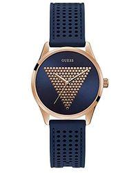 Guess S Analog Quartz Montre avec Bracelet en Silicone W1227L3 - Bleu
