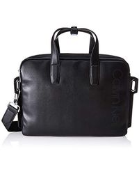 Calvin Klein Punched Laptop Bag - Borse organizer portatutto Uomo - Nero