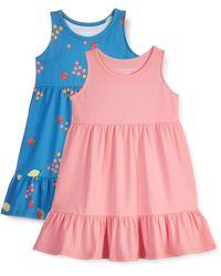 Amazon Essentials Paquete de 2 Vestidos de algodón para niñas - Rosa