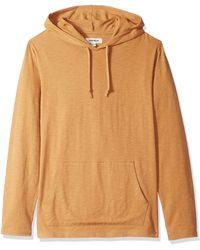 Goodthreads Lightweight Slub T-shirt Hoodie - Orange