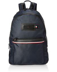 Tommy Hilfiger S Modern Nylon Backpack Shoulder Bag Multicolour - Blue